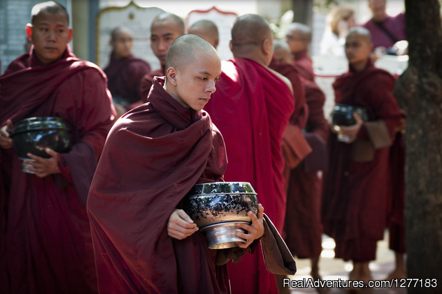 Monks in Mandalay - Myanmar Off The Beaten Track Adventure