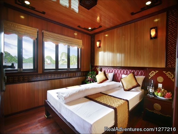 Room in boat in Hanoi - Vietnam Holiday package trip on your request
