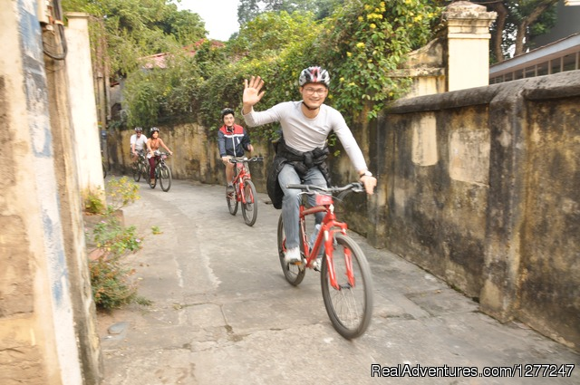 biking in outskirt of Hanoi - Discover Cultural Village outside Hanoi by bike