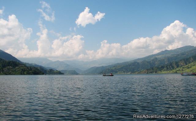 Scenic Pokhara Sightseeing Tour with Well Nepal. Beautiful Phewa Lake view