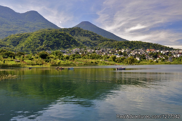 Atitlan Volcano: Volcano And The Atitlan Lake