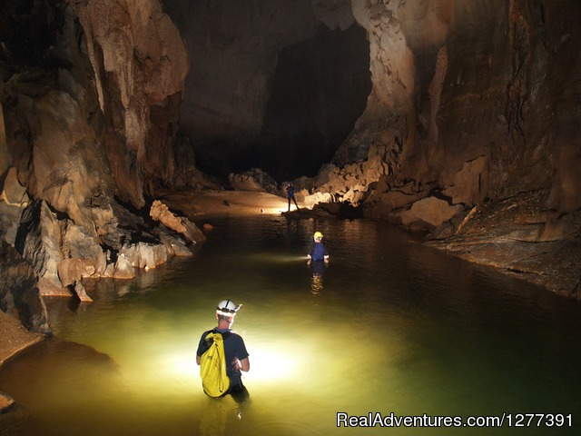 - Trekking to Swallow Cave near Son Doong cave