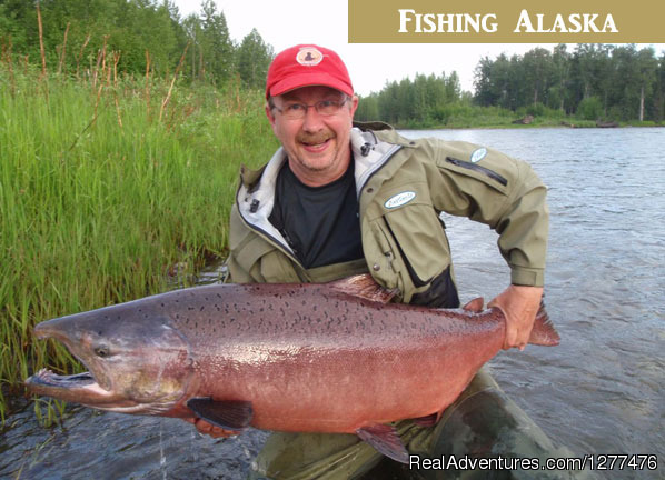 June Alaska king salmon fishing - Wilderness Place Lodge