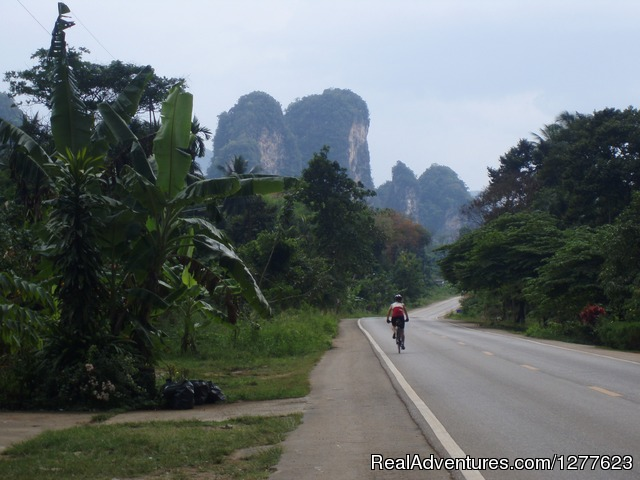 Karst countryside along Andaman Coast - Pedalers Pub & Grille