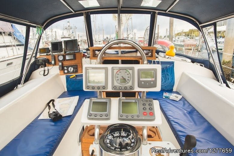 Huge Spacious All-Weather cockpit | Image #4/21 | Sound Sailing- Crewed Sailboat Charters in Alaska