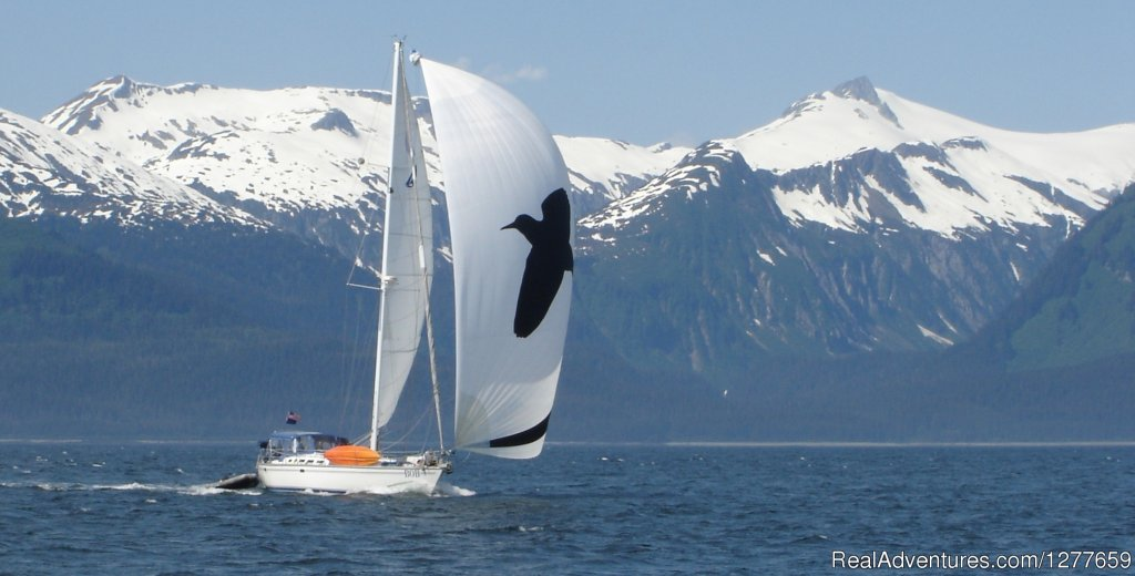 S/V BOB sailing across Chatham Strait | Image #3/21 | Sound Sailing- Crewed Sailboat Charters in Alaska