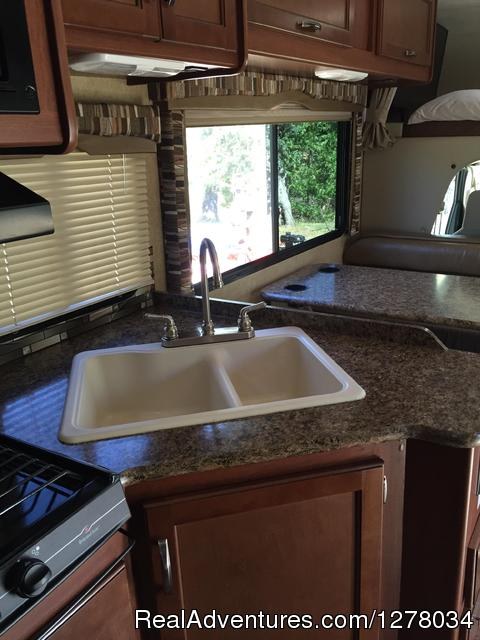 Kitchen and Dining Area - Yosemite RV Rentals