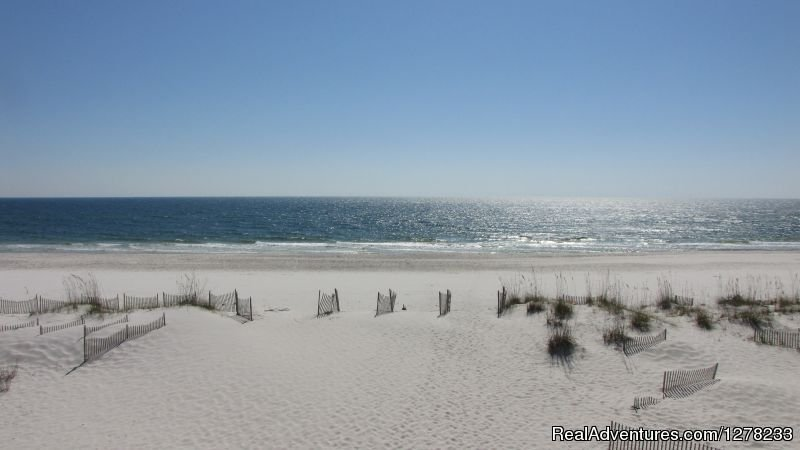 Beach view from balcony | Image #4/8 | Gulf Front Beach House - Oz Duplex