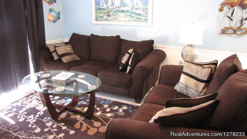 Cozy Living Room | Image #5/8 | Gulf Front Beach House - Oz Duplex