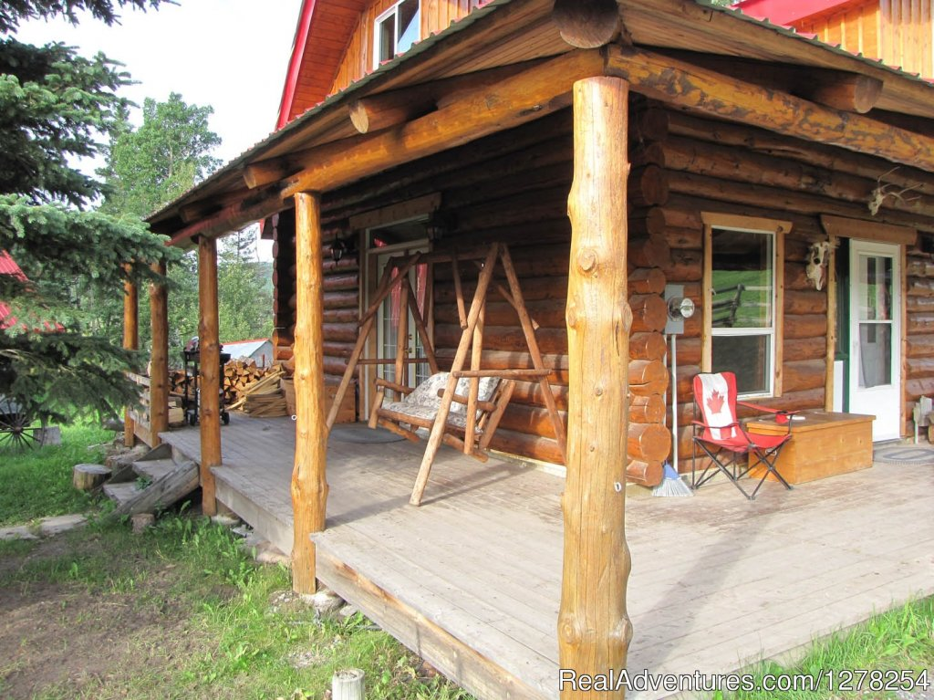 We have two cozy, authentic log cabins for rent which are nestled in the foothills of the Rockies right beside Kananaskis Country. Situated in a private grove and surrounded by the beauty and tranquility of nature, our log cabins are perfect for that