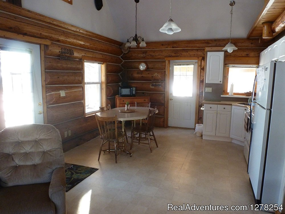 Grandpa's Dining area and Kitchen | Image #8/9 | Log cabins in beautiful Kananaskis