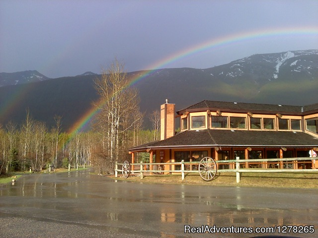 Spectacular Double Rainbow over the Restaurant - Boundary Ranch Home of the 'Guy on a Buffalo'