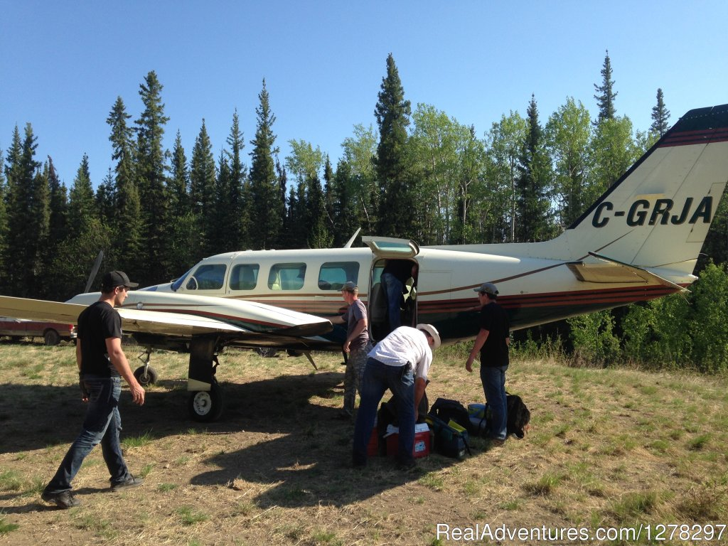 Fly-in-Fishing at a remote northern Alberta Trophy Lake