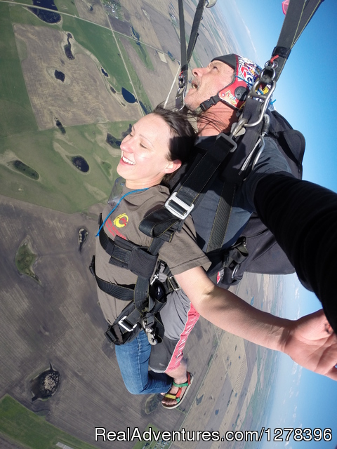 Flying over Beiseker - Alberta Skydivers Ltd.