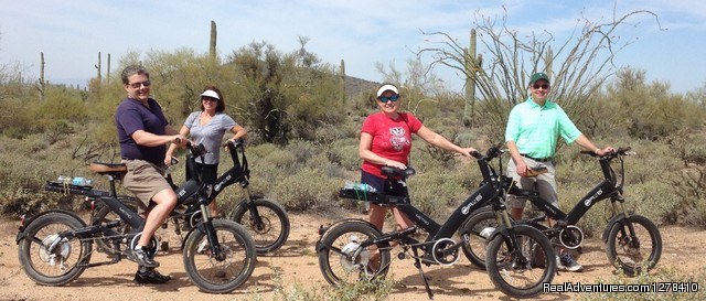 New friends out learning the plant life. - Journey Arizona Tours
