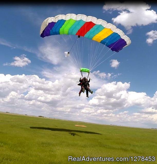 Tandem Skydive at Alberta Skydivers Tandem Parachute Landing