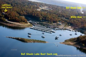 Bull Shoals Lake Boat Dock Fishing Trips Bull Shoals, Arkansas