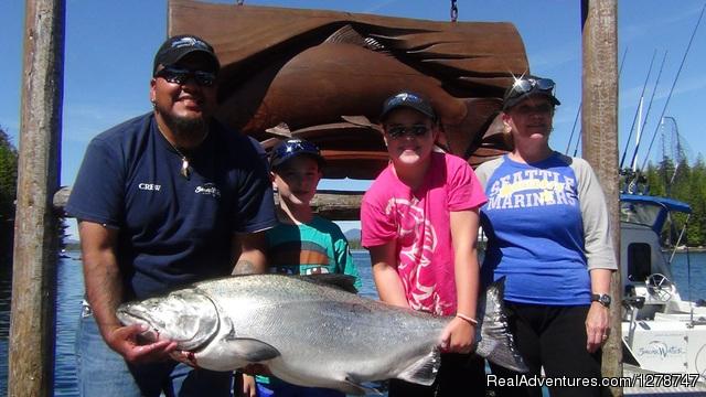 60.5 pound Chinook Salmon - Shearwater Resort & Marina
