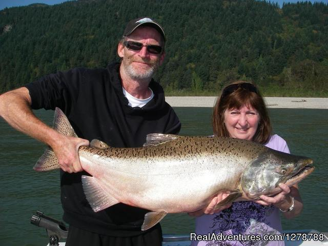 34 lb Fraser river King salmon - Silversides Fishing Adventures