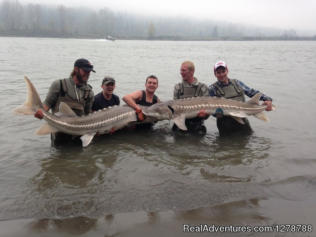 Double header Sturgeon - Silversides Fishing Adventures