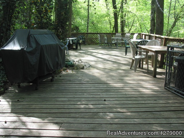 The Back Deck - Creek's End Riverside Retreat