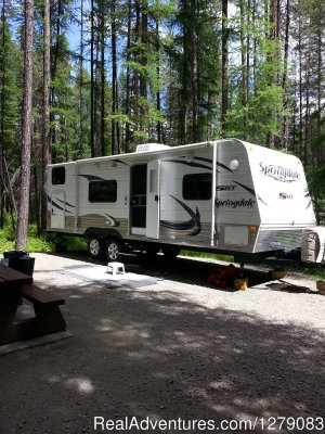 Fisher Peak Camping & Trailer Rentals Kimberley, British Columbia RV Rentals