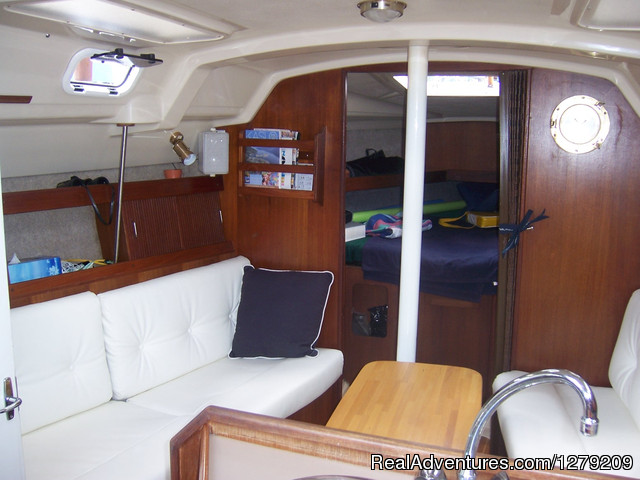 Main Salon - Kootenay Lake Sailing Charters Canada