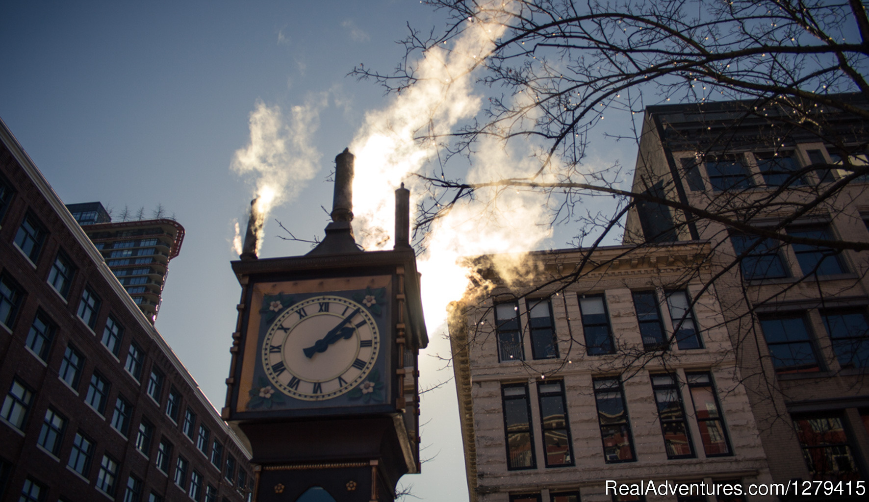Take epic shots of the famous steam clock