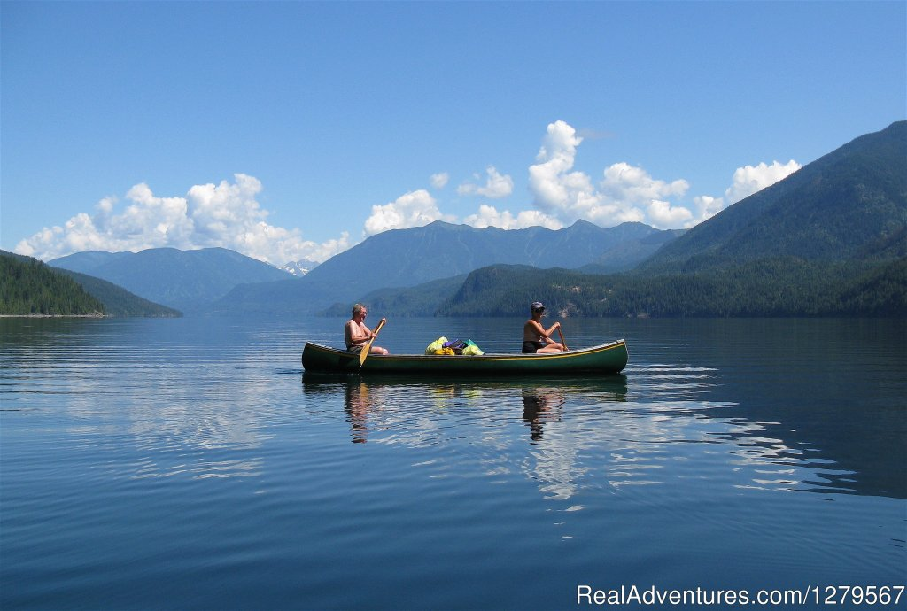 canoeing on Slocan Lake | Image #12/12 | Blue Sky Resort log-cottages , lake view
