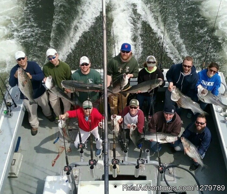 Incredible Striped Bass fishing. We get right on em | Image #4/20 | Down Deep Sport Fishing Fleet