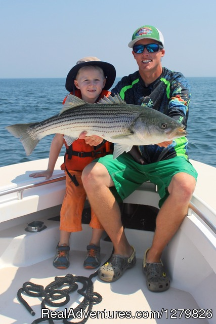 Half-day Striped Bass Fishing Charter off Cape Cod - Reel Deal Fishing Charters