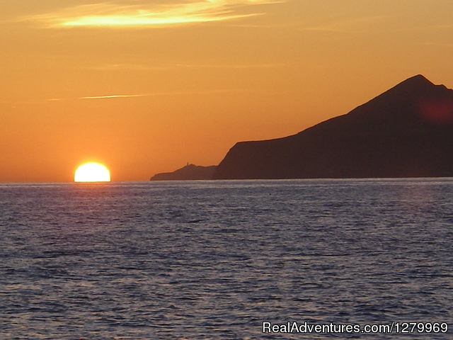 Sail Channel Islands Sunrise at Santa Cruz in Smugglers Cove