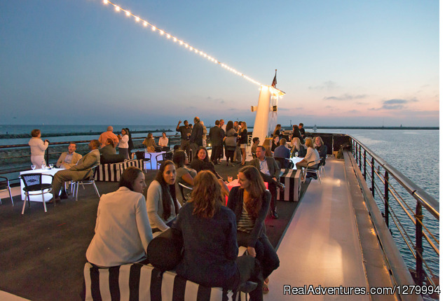 Top Deck of Motor Vessel Entertainer - Hornblower Cruises & Events