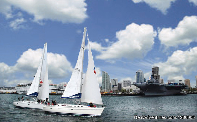 Sail San Diego: 2 Of Our 6 Boats Racing Downtown