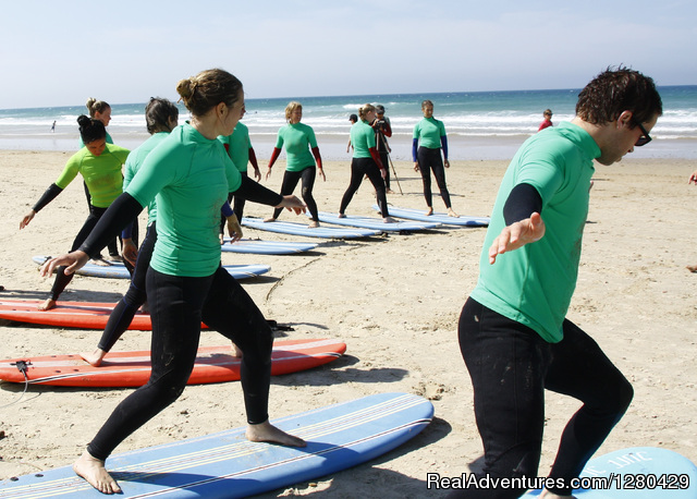 Surfing at Conil - April 2014 - Fitness & health training camp in Andalucia