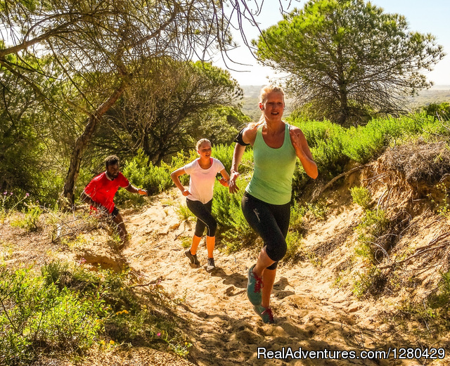 Uphill intervall run - April 2014 - Fitness & health training camp in Andalucia