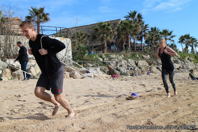 Beach group workout - January 2014 - Fitness & health training camp in Andalucia