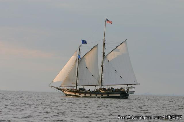 Mystic Whaler Under Sail
