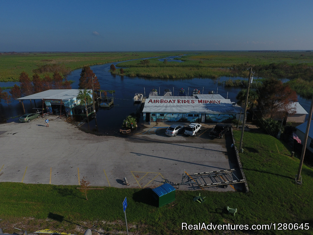 Ariel view of Midway Airboats