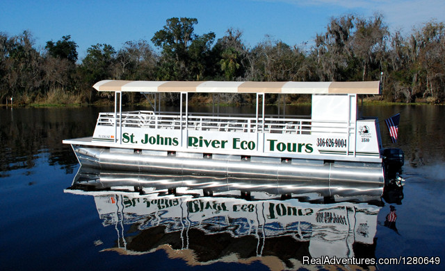 St. Johns River Eco Tours discover Real Florida Our Tour Boat