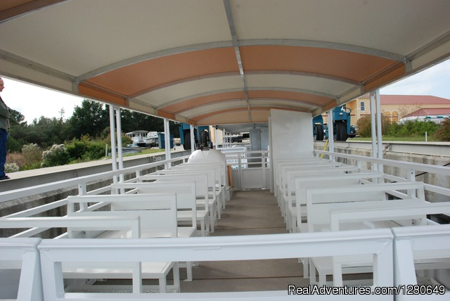 Interior of our bost - St. Johns River Eco Tours discover Real Florida