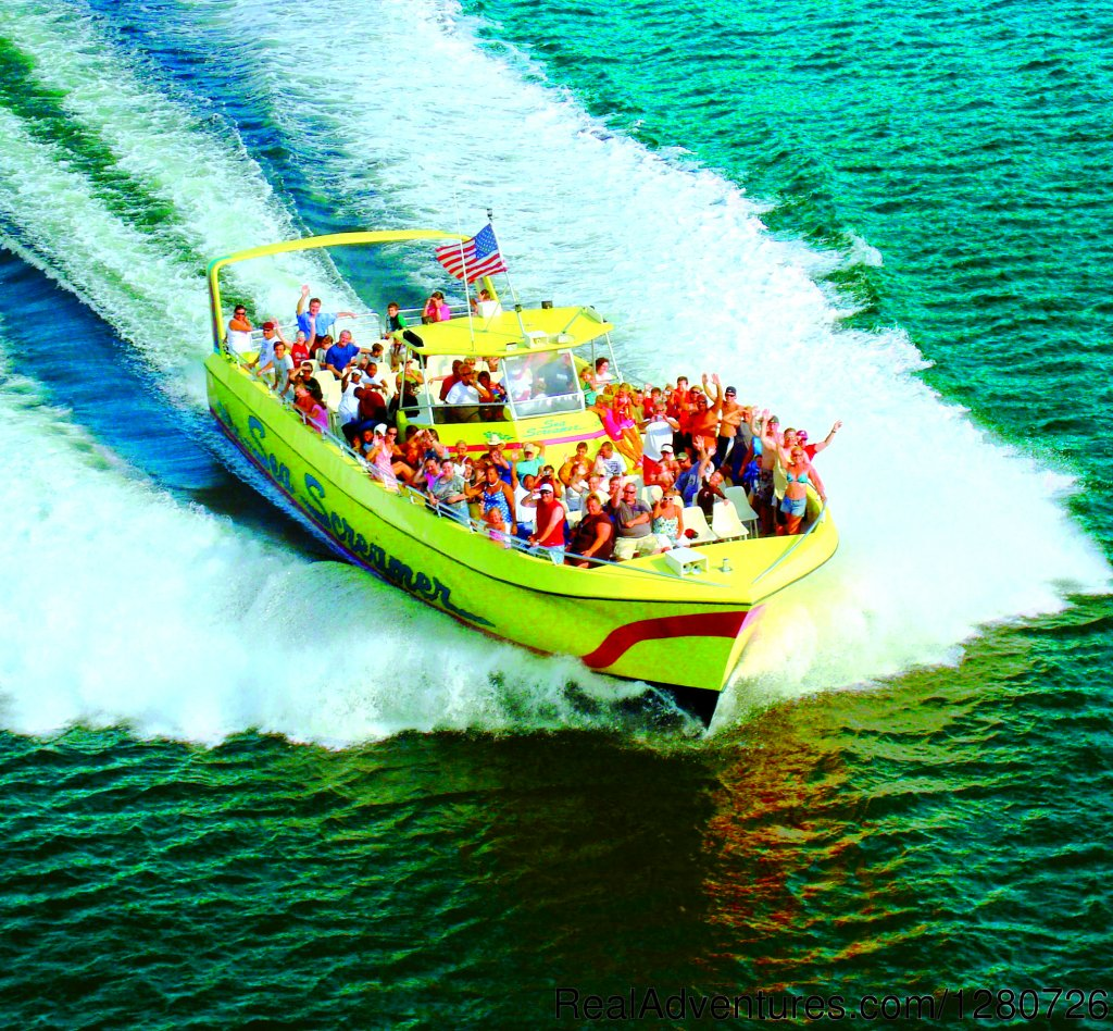 The Sea Screamer Cruise is an exciting way to experience the beauty of Panama City Beach. The spacious and comfortable 73-foot boat offers a smooth yet thrilling  2 hr boat ride, unlike any other.Join the fun.Our crew will exceed your expectations!