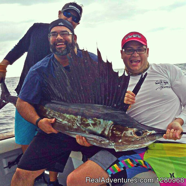 Sailfish on Fired Up Charters - Fired Up Fishing Charters