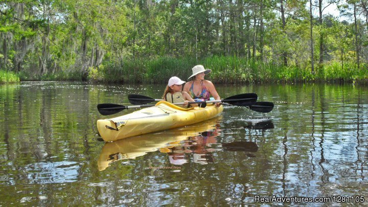 Guided Kayak & Canoe Tours or Rentals on the Altamaha River and it's coastal estuary. Located on the historical waterfront at the city boat land of Darien, GA.  Exploring the BioReserve which includes ancient cypress and a wide variety of wild life.