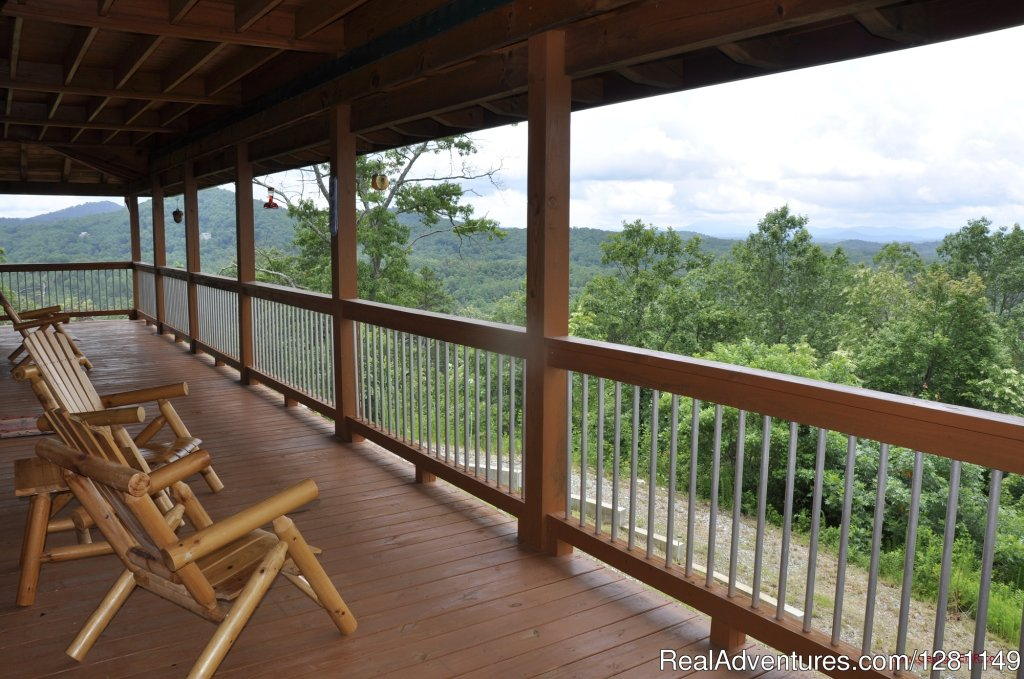 Blue View Mountain Vacation Cabin Rental Murphy, NC | Image #2/7 | Luxury Dog-Friendly Cabins w/ Fence-In & Hot-Tub