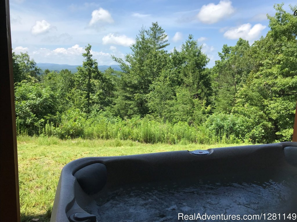 Blue View Mountain Vacation Cabin Rental Murphy, NC | Image #7/7 | Luxury Dog-Friendly Cabins w/ Fence-In & Hot-Tub