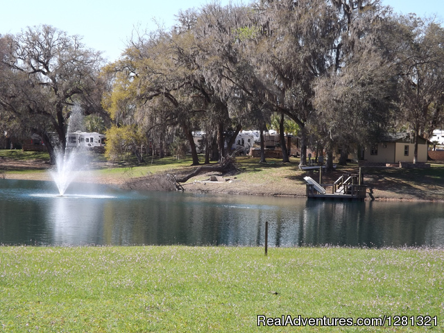 Lake With Dock - Belle Parc RV Resorts