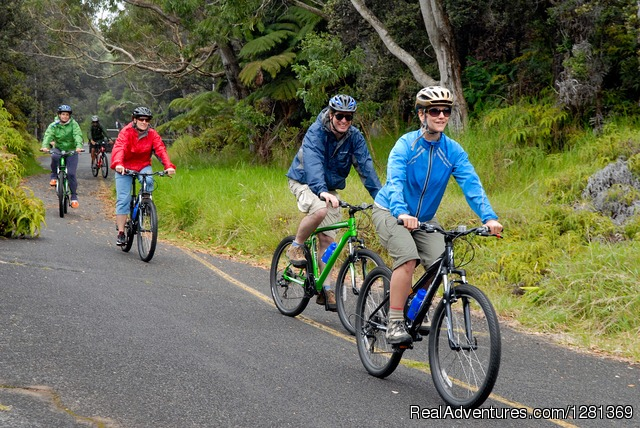 Nui Pohaku's Kilauea Volcano Bike Adventure: Cruising Downhill at Kilauea Volcano
