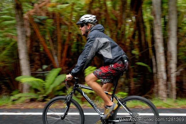 Enjoying the ride, Hawaiian Style - Nui Pohaku's Kilauea Volcano Bike Adventure