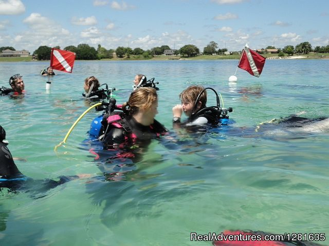 Instructor Tina O'Connell and Kids - Scuba Lessons Inc